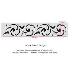 wall border stencils pattern 034