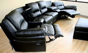 Black Leather Sectional Sofa With Recliner Living Room Elegant Ideas Of Leather Sectional Sofas With