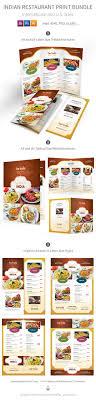 Indian Restaurant Menu Print Template Bundle Psd Vector Eps