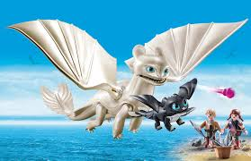 Light Fury And Toothless Baby Playmobil How To Train Your Dragon Iii Light Fury With Baby