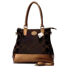 Coach In Signature Medium Coffee Satchels BBW