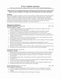 Sample Resume For Manual Testing Best Of It Tester Sample Resume Manual Testing For Experience 37