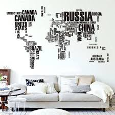 wall decals letters large large world map letter wall stickers letters map wall art large world