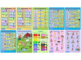 20 Educational Posters Charts For Toddlers Preschoolers