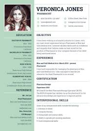 Template For Curriculum Vitae Magnificent 48 Pharmacist Curriculum Vitae Templates Free Word PDF Format
