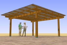 free standing covered patio designs. 18\u0027 X 19\u0027 Freestanding Patio Cover With 4x6 Rafters | $50. Plans Free Standing Covered Designs E