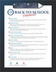 School Checklist Back To School Checklist Auburndale Elementary