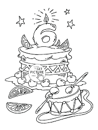Happy Birthday Color Page Party With Hello Kitty Minions Coloring