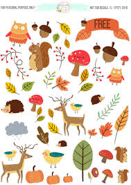 Free Critter Autumn Planner Stickers And Clip Art Stationery