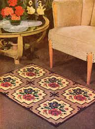 cross stitch needlepoint rose design area rug