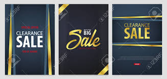 Free Flyers Creator Online Set Of Sale Posters Or Flyers Design Discount Background For