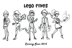 Coloring Pages Lego Elves