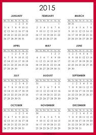 Printable Monthly Calendar Templates 2015 Best Photos Of 12 Month Calendar Template 2015 2015