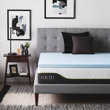 memory foam mattress topper walmart. Lucid 2\ Memory Foam Mattress Topper Walmart