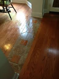 a really cool way to tie two diffe hardwood lots together home ideas flooring ideas kitchens and house
