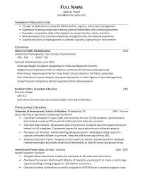 Peace Corps Resume Best Career Services Sample Resumes For Graduate Students And Postdocs