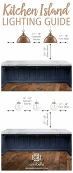 kitchen island lighting guide how many lights how big how high inside what height