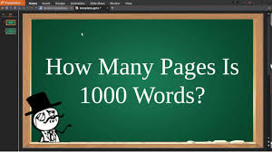 how many pages is words  how many pages is 1000 words