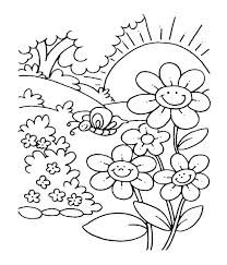 Preschool Spring Coloring Sheets Spring Printable Coloring Pages