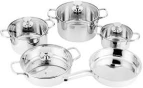 SAVAJO 9Pcs cooking set <b>Mirror Polishing stainless steel</b> : Buy ...
