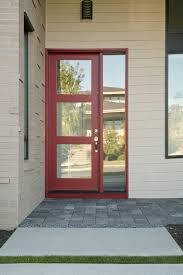 single frosted glass exterior door