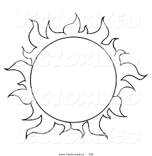 Small Picture Vector of a Coloring Page of a Full Summer Sun by Hit Toon 330