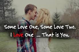 romantic quote with love couple