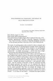 png philosophical passages an essay in selfpresentation springer