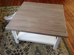 vinegar and steel wool stain on coffee table planked wood top goldenboysandme