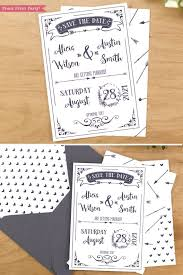 Print Save The Date Cards Save The Date Cards Printable Rustic Wedding Save The Date Cards