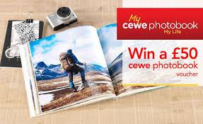 prize drawswin a 50 cewe photobook voucher