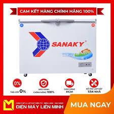 Tủ đông sanaky 220 lít vh-2899w1 - tủ có dung tích 220 lít với 2 ngăn đông  và ngăn mát riêng biệt. gas r600a thân thiện với môi trường. làm lạnh và