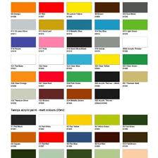 Tamiya Colour Chart 3no7739p05ld