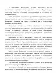 Учет и анализ финансовых результатов на предприятие ООО Развитие  zoom zoom