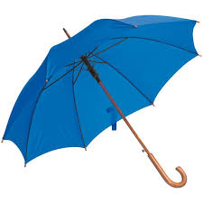 picture of automatic umbrella with wooden hook handle