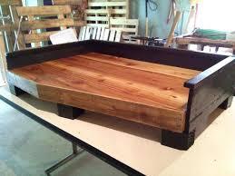 wooden dog bed plans diy pallet layout design minimalist
