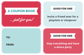 Printable Homemade Coupons A Free Printable Coupon Book For Kids That Makes The Best Gift