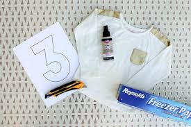 this diy kids birthday shirt is a memorable craft idea to make with your child for