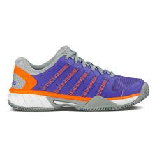 k swiss express leather hb clay court shoe women violet orange