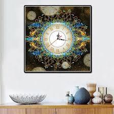 3D <b>Special</b> Shaped <b>Diamond Embroidery</b> frower Wall Clock <b>5D</b> ...