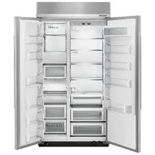 kitchenaid 42 25 5 cu ft built in side by side refrigerator