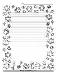 lined writing paper with decorative