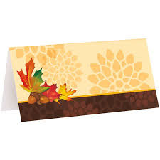 Fall Place Cards Fall Leaves Place Cards 16ct
