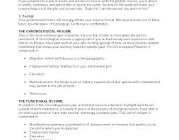 Type Of Resume Proper Resume Format For Freshers Epic Most Common In Adorable Resume With Accent