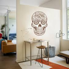 home office mexico. Sugar Skull Mexico Floral Swirl Office Wall Art Vinyl Sticker Decal Adesivo De Parede Home Decor Stickers Mural 64\ N