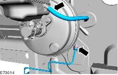 ford workshop manuals > transit > mechanical note cap the clutch master cylinder supply hose to prevent fluid loss or dirt ingress