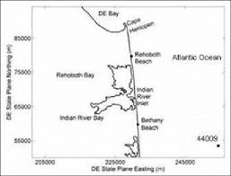 Indian River Bay Tide Chart 2018 Map Of Delaware Coast Showing Indian River Inlet And