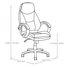 office chair drawing. corliving lof-508-o executive office chair in black leatherette drawing i