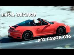 2018 porsche targa 4s. interesting 2018 2018 porsche 911 targa gts exclusive colors  lava orange u0026 sapphire blue in porsche targa 4s e