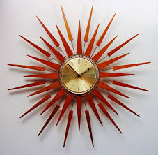 midcentury modern starburst wall clock by seth thomas s
